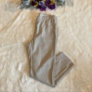 J Jill Essential Khaki Ankle Pull On Pants Sz 12
